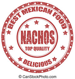 Nachos-stamp - Grunge rubber stamp with text Nachos-Best...