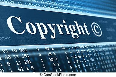 nachricht, begriff, copyright