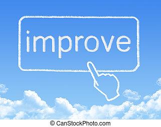 nachricht, form, wolke, verbessern