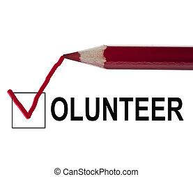 nachricht, freiwilliger