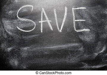 nachricht, retten, tafel, handgeschrieben