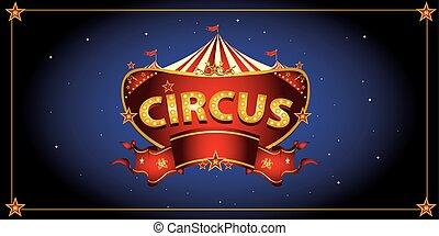 nacht, circus, meldingsbord