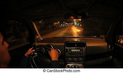 nacht, fahren