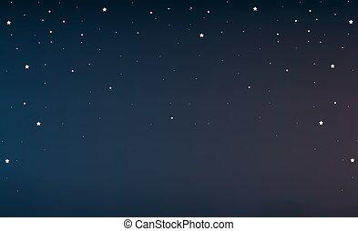 nacht himmel, mit, sternen