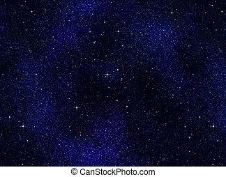 nacht himmel, oder, sternen, raum