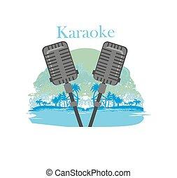 nacht, karaoke, pictogram