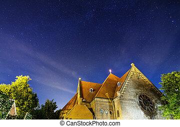 nacht, kirche
