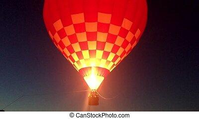 nacht, luftballone, luft, heiß