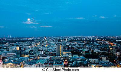 warschau europa panorama polen sonnenuntergang hauptstadt. Black Bedroom Furniture Sets. Home Design Ideas