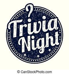 nacht, postzegel, trivia, grunge, rubber