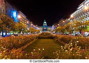 nacht, prag, tschechische republik
