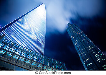 nacht, shanghai, aanzicht