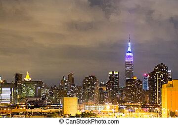 Stadt wolkenkratzer sommer york manhattan neu vereint