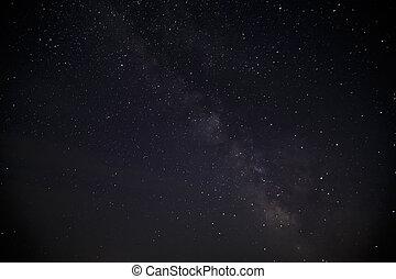nacht, stars., milchig, himmelsgewölbe, weg