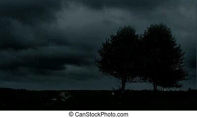nacht, storm.