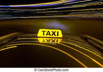 nacht, taxi
