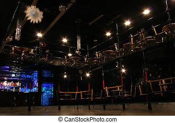 nachtclub, inneneinrichtung