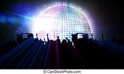 nachtclub, kugel, disko
