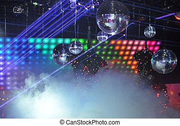 nachtclub, laserlicht, weisen