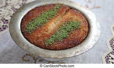 nachtisch, pistazien, k?nefe, türkisch, traditionelle