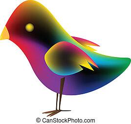 nachylenie, oczko, ptak