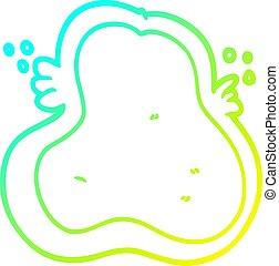 nachylenie, rysunek, ameba, przeziębienie, rysunek, kreska