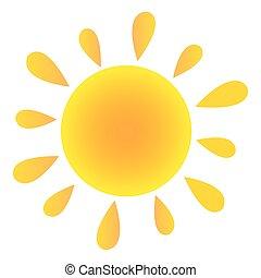 nachylenie, słońce, abstrakcyjny