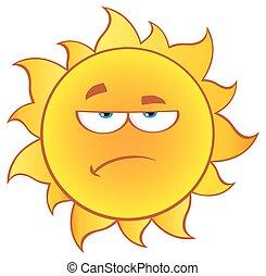 nachylenie, słońce, zrzędny