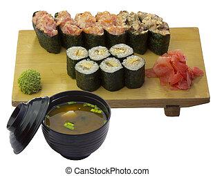 nacional, alimento, japoneses, cozinha
