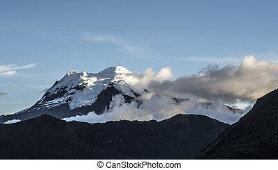 nacional,  antisana, parque,  cayambe-coca, volcán,  Ecuador