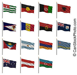 nacional, bandeiras, um