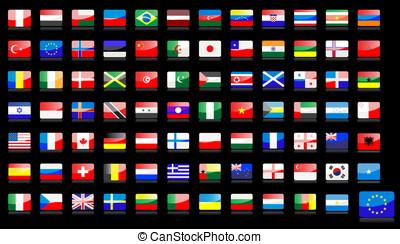 nacional, banderas, iconos