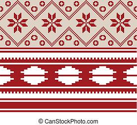 nacional, belorussian, dos, ornamento