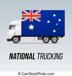 nacional, caminhão, entrega