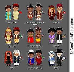 nacional, dress., africanos