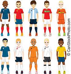 nacional, equipe, jogadores futebol
