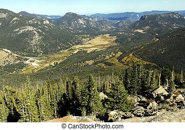 nacional, montaña rocosa, park.