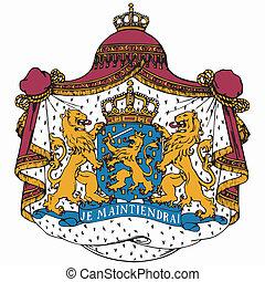 nacional, países bajos, emblema