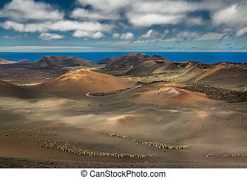 nacional, parque, paisaje,  timanfaya