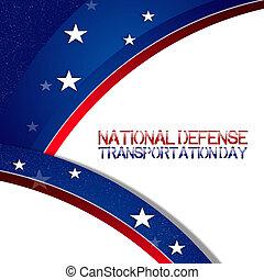 nacional, transporte, día, defensa