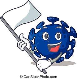nacionalista, personagem, mascote, bandeira, streptococcus, desenho