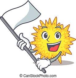 nacionalista, personagem, mycoplasma, mascote, bandeira, desenho