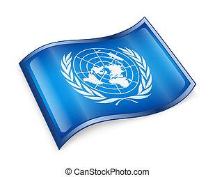 naciones, bandera, unido, icono