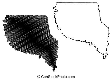 Nacogdoches County, Texas (Counties in Texas, United States of America, USA, U.S., US) map vector illustration, scribble sketch Nacogdoches map
