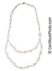 Nacre necklace isolated on white background