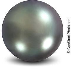 Nacreous pearls. Vector illustration - Nacreous pearls....