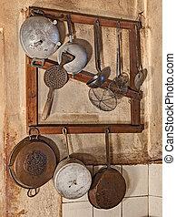 naczynia kuchenne, stary