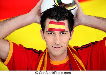 nadšený, obránce, španělsko