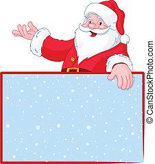 nad, claus, santa, g, vánoce, čistý