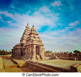 nad, -, sitio, orilla, herencia, mundo, tamil, templo, mahabalipuram
